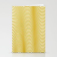 Golden Waves Stationery Cards