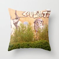 STREETART BERLIN, GERMANY by Jay Hops Throw Pillow