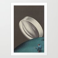 smoke break Art Print