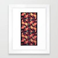 Vintage Butterflies Pattern Framed Art Print