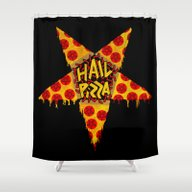 HAIL PIZZA Shower Curtain