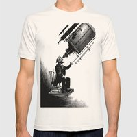 Who's Looking at Who? Mens Fitted Tee Natural SMALL