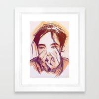 Human Behavior Framed Art Print