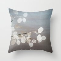 WHITE PAPER FLOWERS Throw Pillow