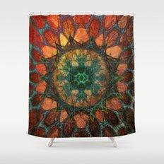 Sun Mandala Shower Curtain