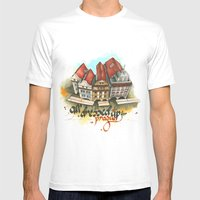 Prague Mens Fitted Tee White SMALL
