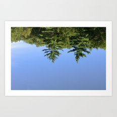 Reflecting at Farrar Pond 1 Art Print