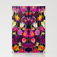 Pink and Orange Tulips Stationery Cards