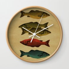 One fish Two fish Wall Clock