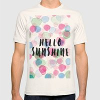 Hello Sunshine Mens Fitted Tee Natural SMALL