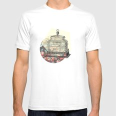 vintage birdcage. Mens Fitted Tee SMALL White