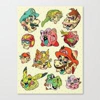 Smashed Bros. Canvas Print