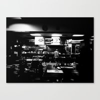 Lonely Cafe' Canvas Print