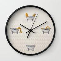 Giraffe Takes A Bath Wall Clock