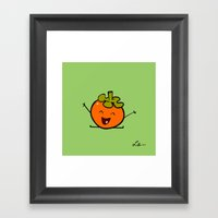 Persimmon Framed Art Print