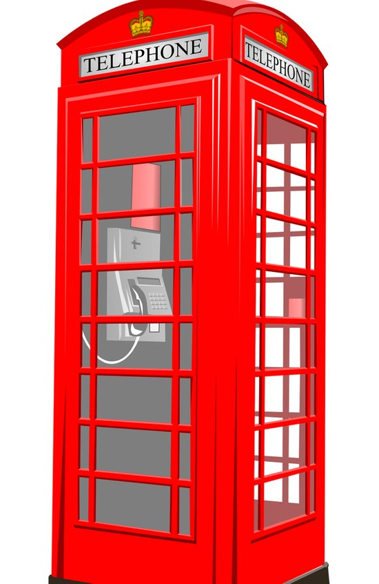 RED PHONE BOOTH Art Print
