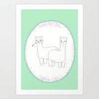 Lamas Are Cool Art Print