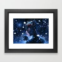 Catwoman Painting Framed Art Print