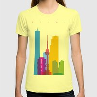 Shapes of Seoul accurate to scale Womens Fitted Tee Lemon SMALL