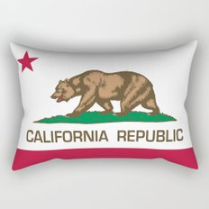 California Republic state flag - Authentic Version Rectangular Pillow