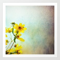 Yellow Flowers 1 Art Print