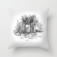 Creatures of nature Throw Pillow