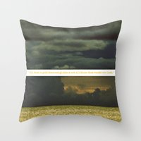 Be Golden, Be A Wanderer Throw Pillow
