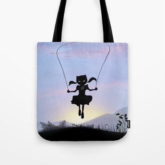 Cat Kid Tote Bag