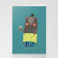 Bear and Bird Buddies Stationery Cards