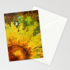 van Gogh styled sunflowers version 3 Stationery Cards