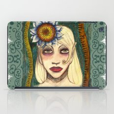 snakes and sunflower girl iPad Case