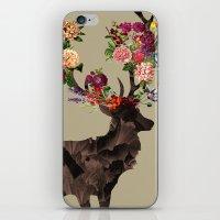 Spring Itself Deer Flower Floral Tshirt Floral Print Gift iPhone & iPod Skin