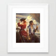 Mass Effect Pirate AU Framed Art Print