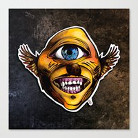 Cycloptic Dog Eagle - Little Wing Canvas Print