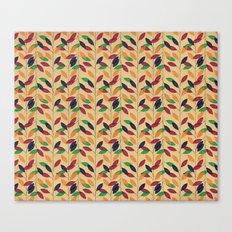 Leafs cute pattern Canvas Print