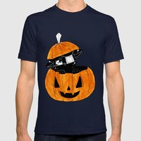 You Can't See Me.. Mens Fitted Tee Navy SMALL