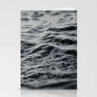 Ocean Magic Black and White Waves Stationery Cards