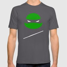 TMNT Donnie poster Mens Fitted Tee Asphalt SMALL