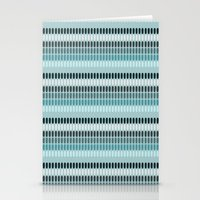 Blue Ice Stripes Stationery Cards
