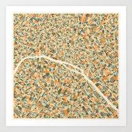PARIS MAP Art Print