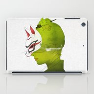 iPad Case featuring Fox Mask _side Face by SEVENTRAPS
