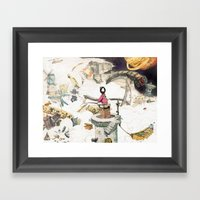 Dream Fishing Framed Art Print