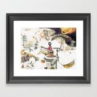 Dream Fishing Framed Art Print