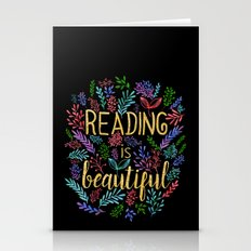 Reading Is Beautiful - G… Stationery Cards