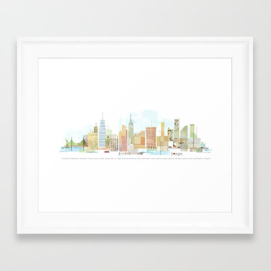 I love NYC Framed Art Print