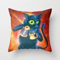 Ryan & Molly's Cat: Harry Throw Pillow