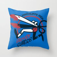 Bloody Cutters Throw Pillow