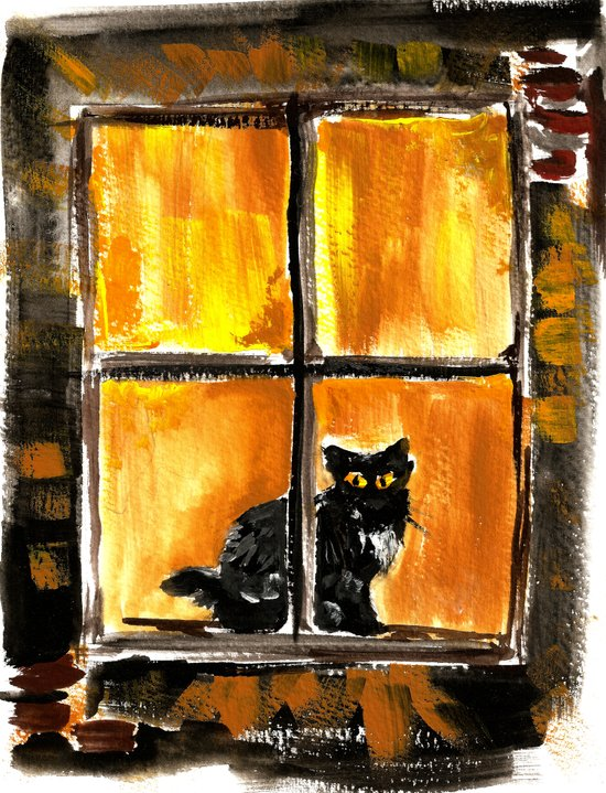 Looking out the Window Art Print