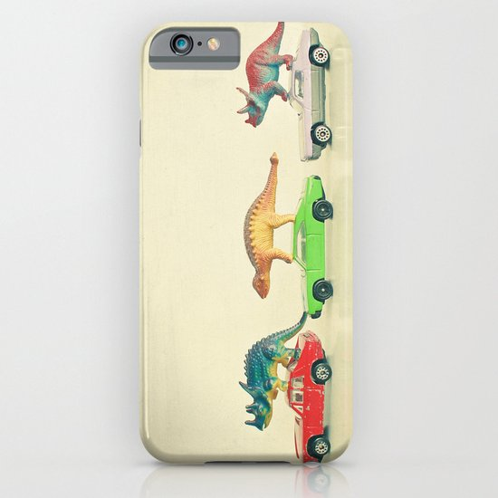 Dinosaurs Ride Cars iPhone & iPod Case