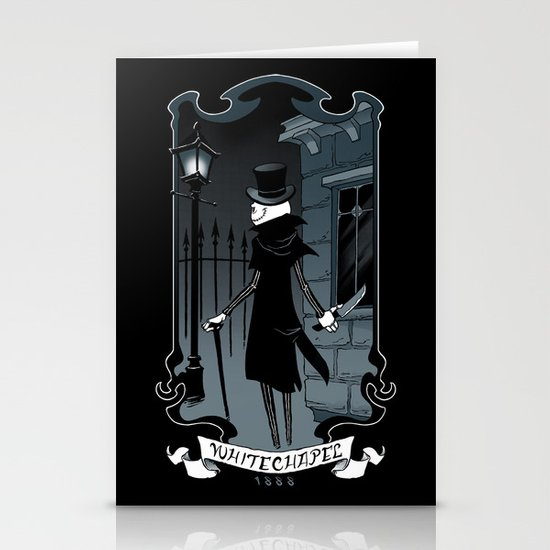 Jack the Ripper Stationery Card